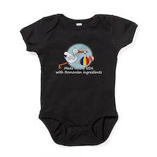 stork baby rom2 white.psd Baby Bodysuit