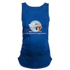 stork baby rom2 white.psd Maternity Tank Top
