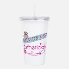 World's Best Esthetici Acrylic Double-wall Tumbler