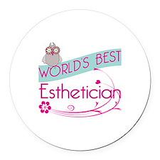 World's Best Esthetician Round Car Magnet
