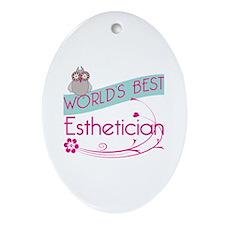 World's Best Esthetician Ornament (Oval)