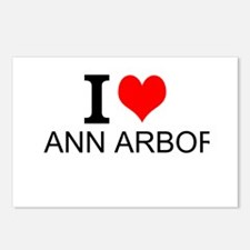 I Love Ann Arbor Postcards (Package of 8)