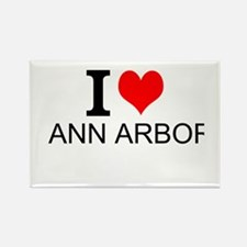 I Love Ann Arbor Magnets