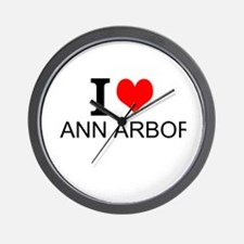 I Love Ann Arbor Wall Clock