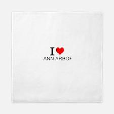 I Love Ann Arbor Queen Duvet