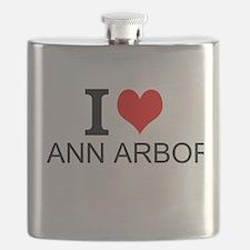 I Love Ann Arbor Flask