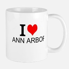 I Love Ann Arbor Mugs