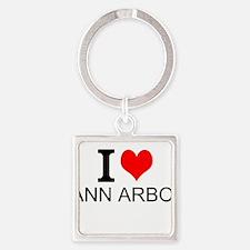 I Love Ann Arbor Keychains