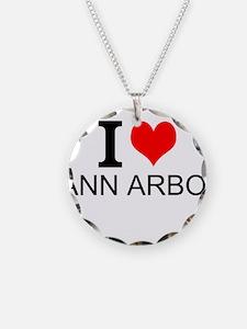 I Love Ann Arbor Necklace