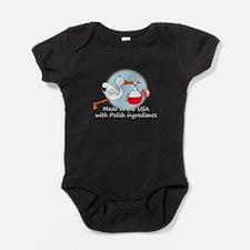 stork baby pl 2 white.psd Baby Bodysuit
