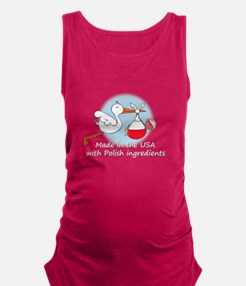 stork baby pl 2 white.psd Maternity Tank Top