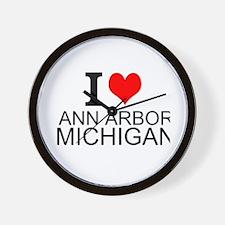 I Love Ann Arbor Michigan Wall Clock