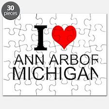 I Love Ann Arbor Michigan Puzzle