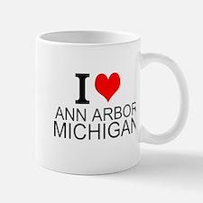 I Love Ann Arbor Michigan Mugs