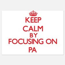 Keep Calm by focusing on Pa Invitations