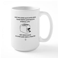 Won a Toaster (black) Mugs