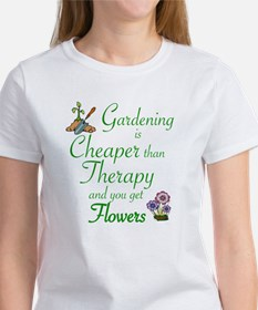 Unique Gardening cheaper than therapy Tee