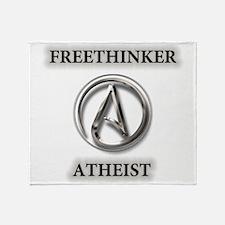 Freethinker Atheist Logo Throw Blanket
