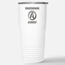 Freethinker Atheist Logo Travel Mug