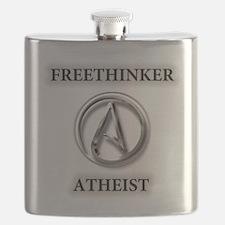 Freethinker Atheist Logo Flask