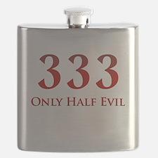 333 Only Half Evil Flask