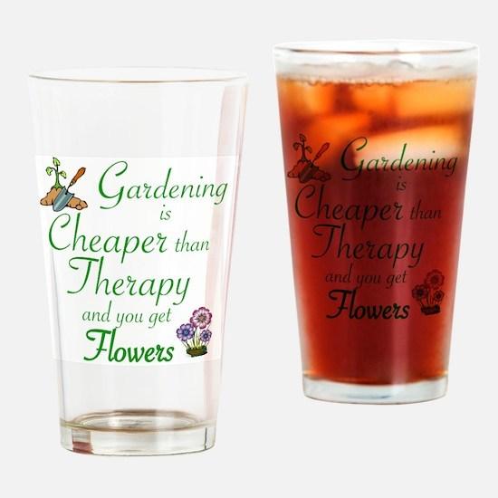 Cool Gardening Drinking Glass