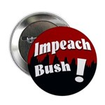 Impeach Bush! Scarlet and Black Button