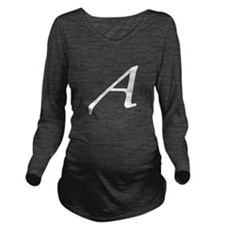Atheist Letter A Long Sleeve Maternity T-Shirt