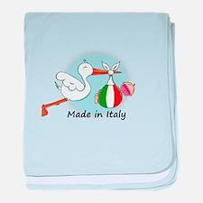 stork baby italy baby blanket