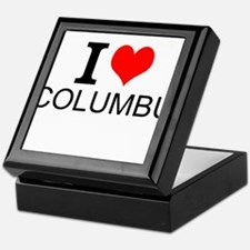 I Love Columbus Keepsake Box