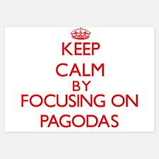 Keep Calm by focusing on Pagodas Invitations