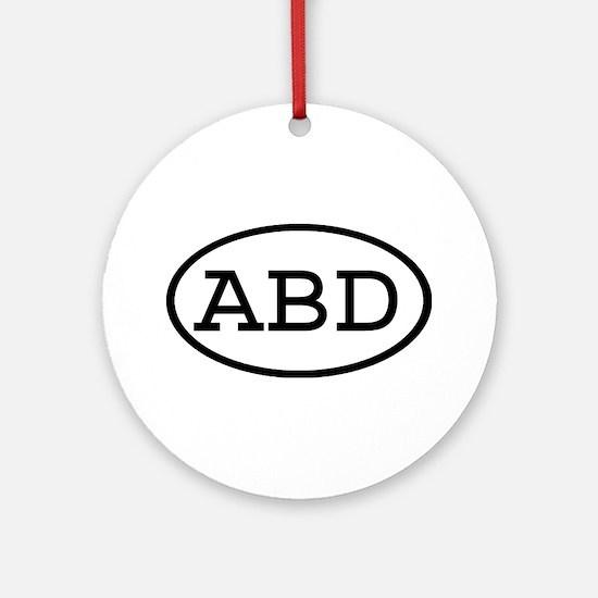 ABD Oval Ornament (Round)