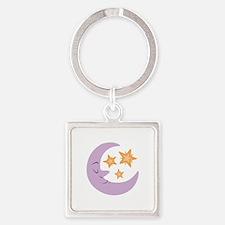 Night Moon Keychains