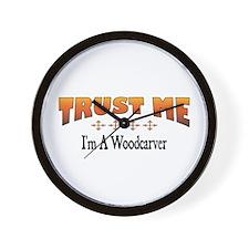Trust Woodcarver Wall Clock