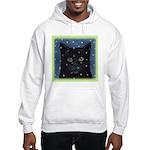Cat in Snow Hooded Sweatshirt