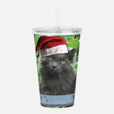 Christmas Russian Blue Long-haired Cat Acrylic Dou