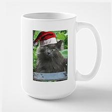 Christmas Russian Blue Long-haired Cat Mugs