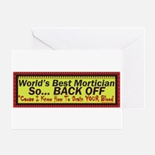 Best Mortician Greeting Cards