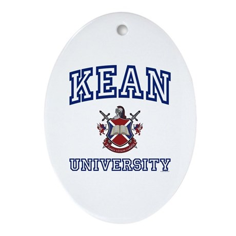 KEAN University Oval Ornament