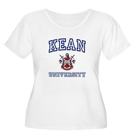 KEAN University Women's Plus Size Scoop Neck T-Shi