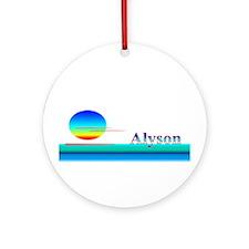Alyson Ornament (Round)