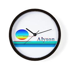 Alyson Wall Clock