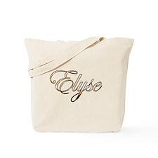 Gold Elyse Tote Bag