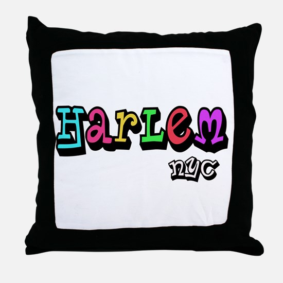 """""""CLICK HERE for HARLEM COLORS Throw Pillow"""