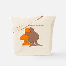 if we were hugging... Tote Bag