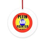 Plein Air Painter Ornament (Round)