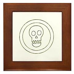 Geometric Skull Circle Framed Tile