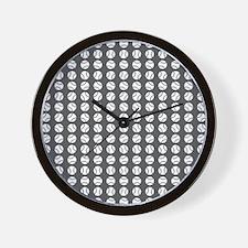 Sports: Baseball Ball Pattern Wall Clock