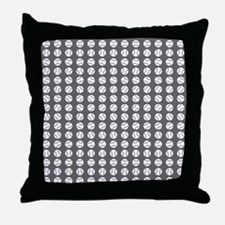 Sports: Baseball Ball Pattern Throw Pillow