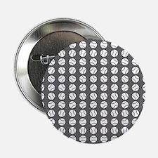 """Sports: Baseball Ball Pattern 2.25"""" Button (10 pac"""